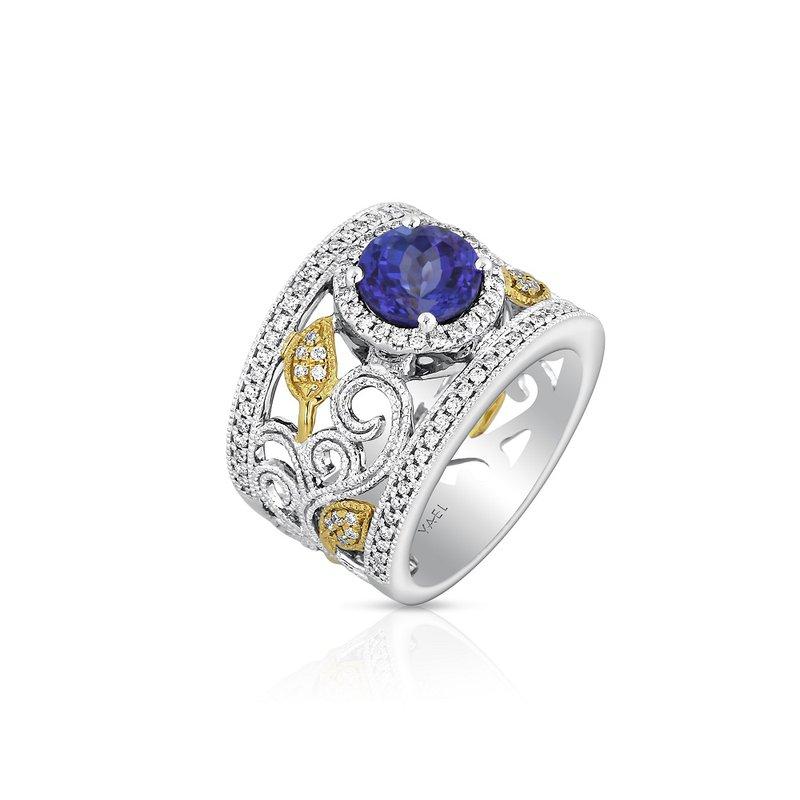 Yael Designs Openwork Tanzanite & Diamond Ring 18K