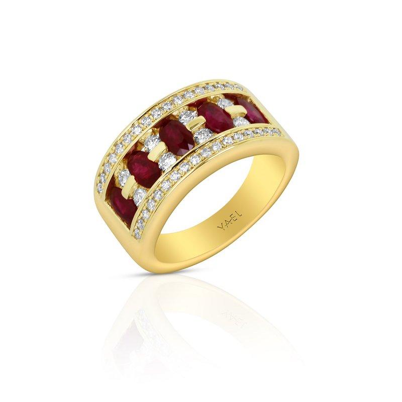Yael Designs Ruby & Diamond Band 18KY