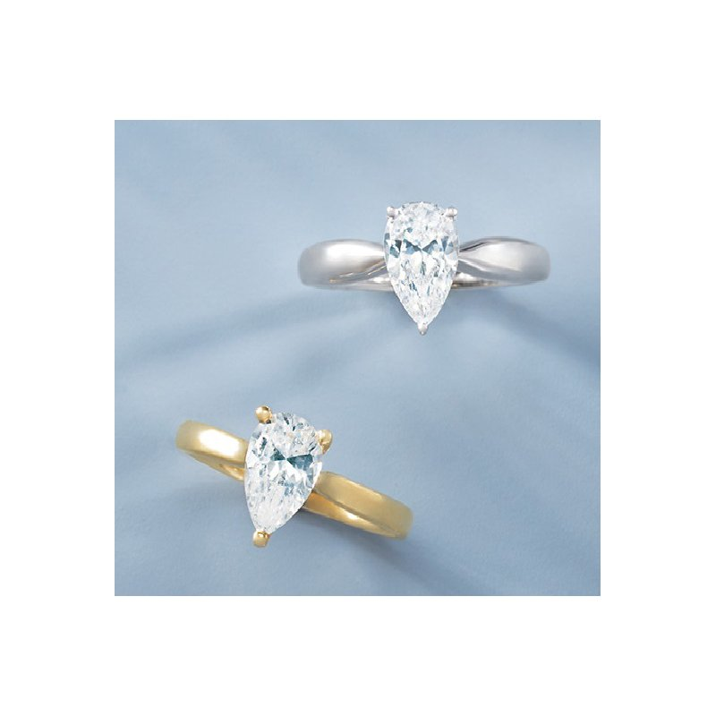 Gallery Designs Pear Engagement Ring 14KY - Setting Only