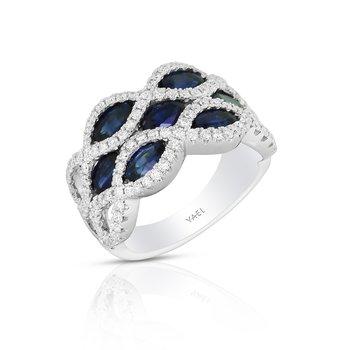 Infinity Sapphire Band 18KW
