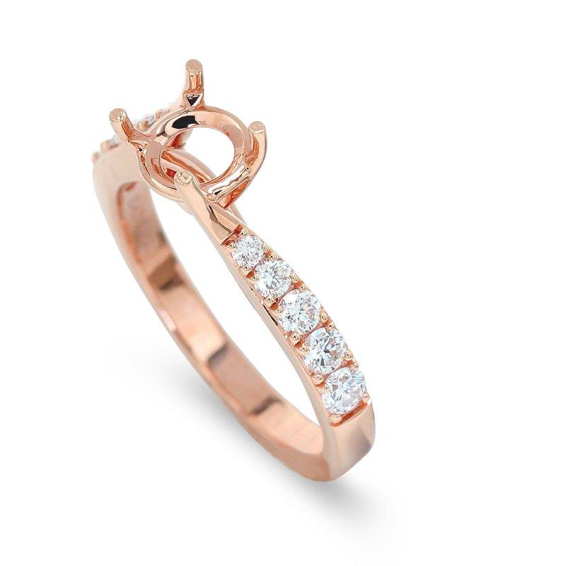 Isadora Twist Diamond Engagement Setting 18KR