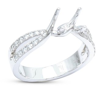 Split Diamond Engagement Setting 18KW
