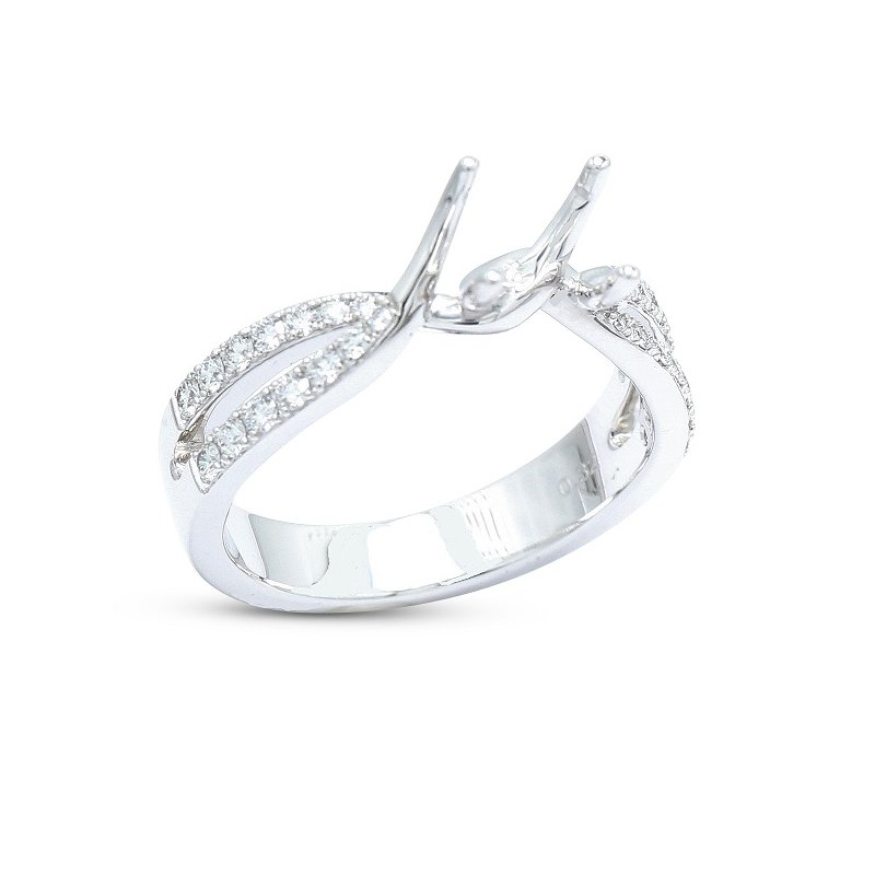 Isadora Split Diamond Engagement Setting 18KW