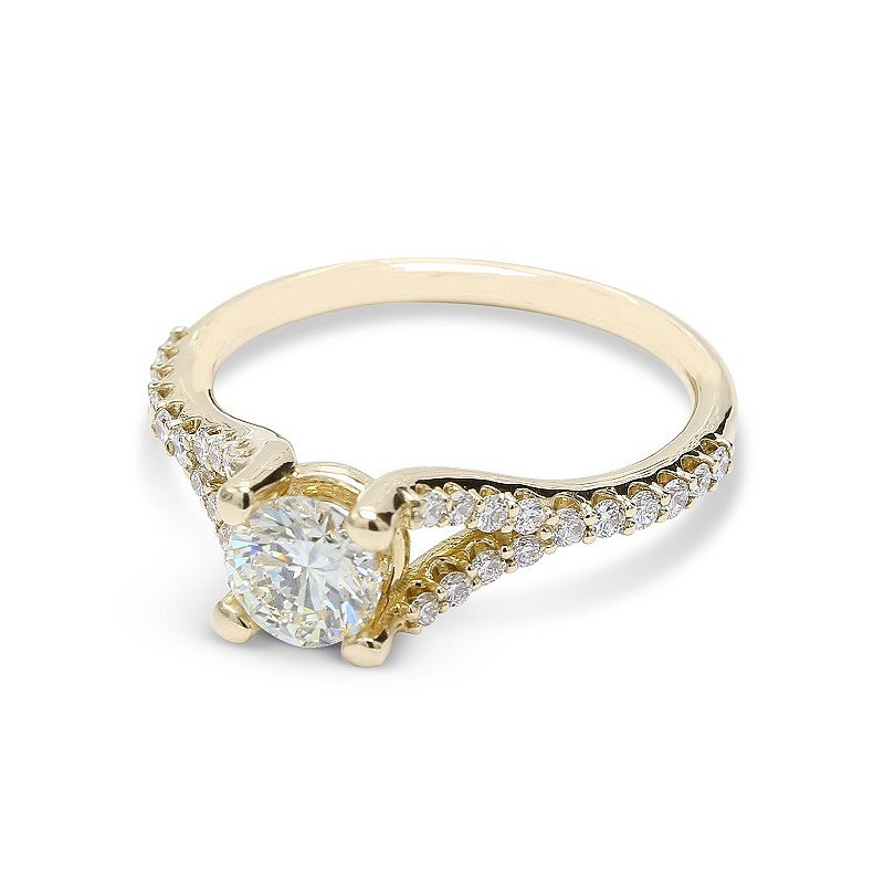 Ascencio Designs Split Style Engagement Ring 14KY