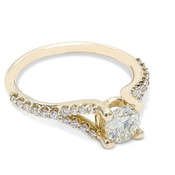 Split Style Engagement Ring 14KY