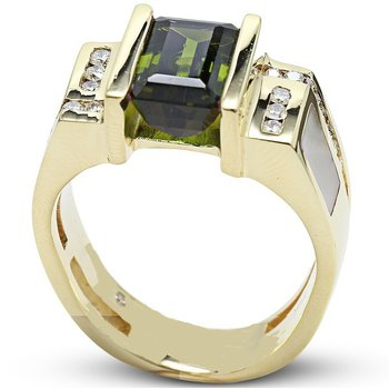 Men's Green Tourmaline Ring