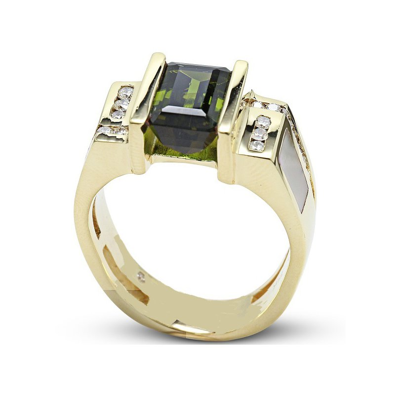 Estate Jewelry Men's Green Tourmaline Ring