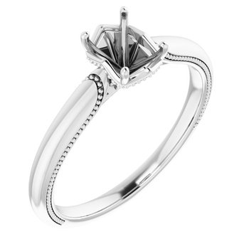 Diamond Accent Engagement Ring - Setting Only