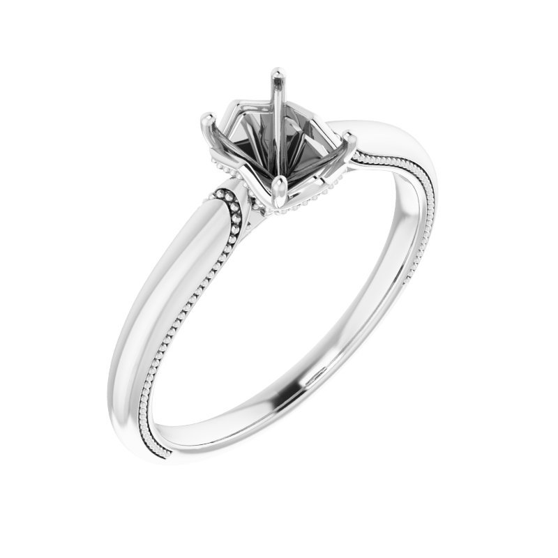 Gallery Designs Diamond Accent Engagement Ring - Setting Onlu