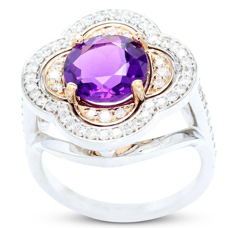 Daniels Designs Clover Amethyst Ring 14K - Custom Order