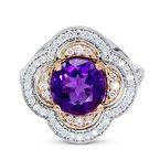 Daniels Designs Custom Clover Amethyst Ring 14K