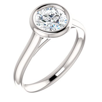 14KW Bezel Solitaire Setting Only