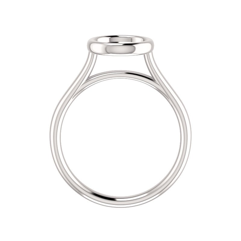 Gallery Designs 14KW Bezel Solitaire Setting Only