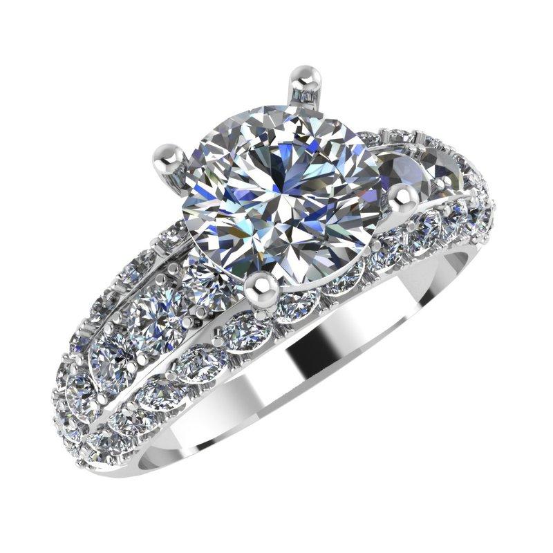Isadora Vintage Diamond Engagement - Setting Only