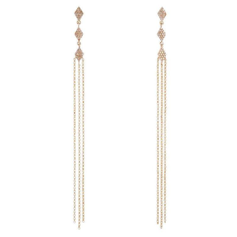 Sophia by Design Chain Dangle Earrings 14KY