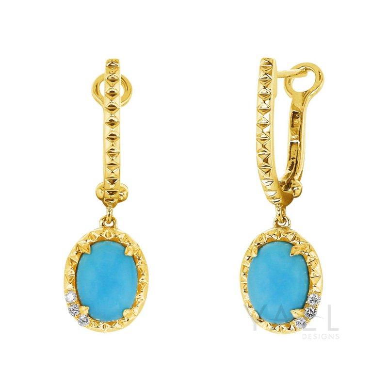 Yael Designs Turquoise Dangle Earrings