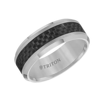 Tungsten & Carbon Fiber Wedding Band