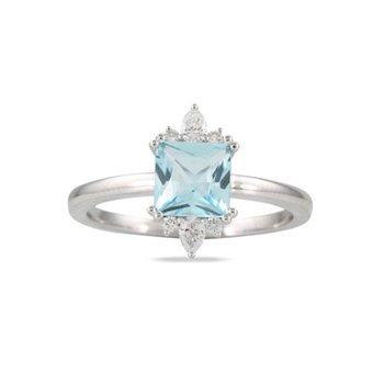 Blue Topaz Ring 18KW