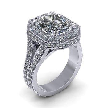 Split Shank Halo Ring - Custom Ring