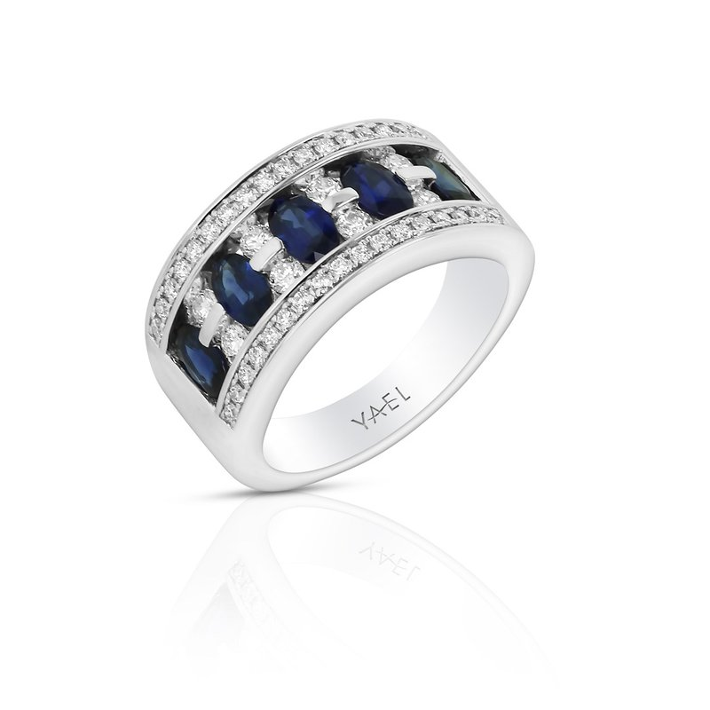 Yael Designs Sapphire & Diamond Band 18KW