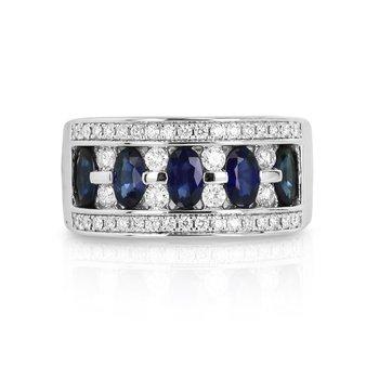 Sapphire & Diamond Band 18KW