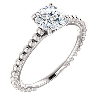 Beaded Solitaire Setting Only