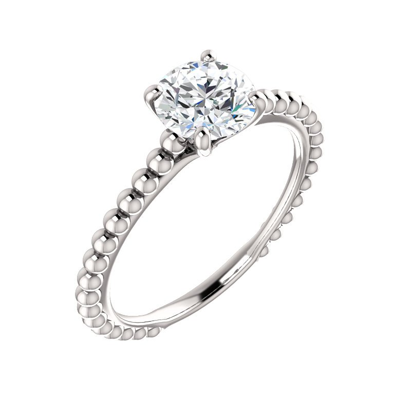 Gallery Designs Beaded Solitaire Setting Only