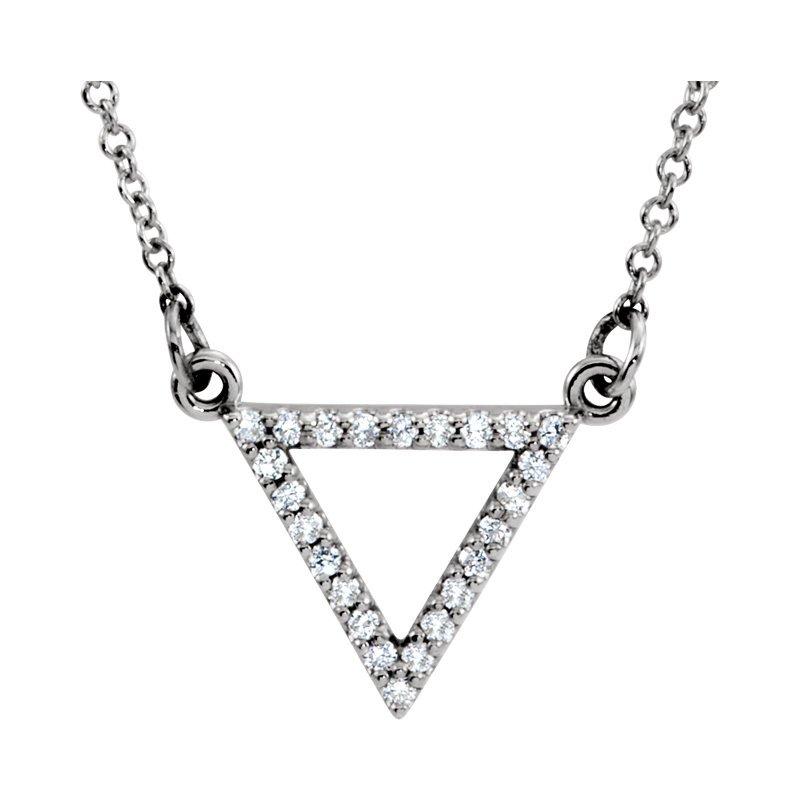 Gallery Designs Dainty Diamond Triangle Necklace