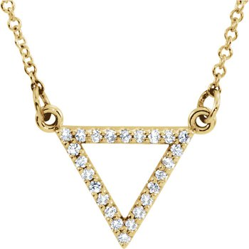 Dainty Diamond Triangle Necklace