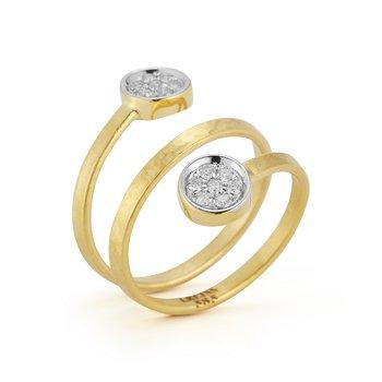 Spiral Circle Ring 14KY