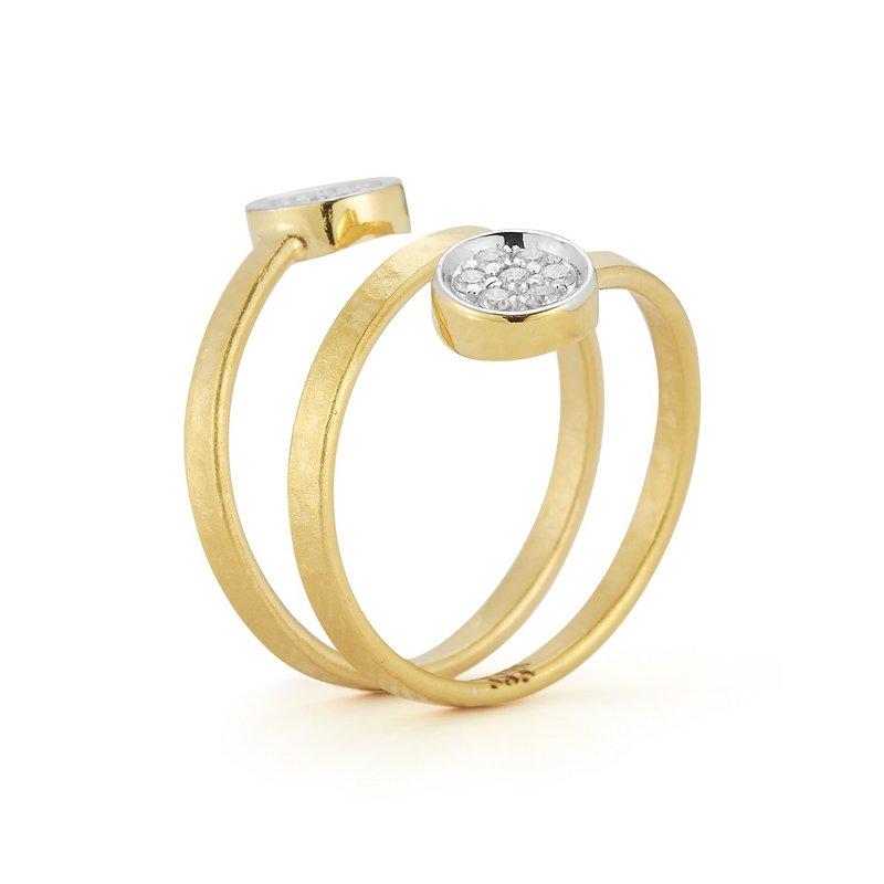 I. Reiss Spiral Circle Ring 14KY