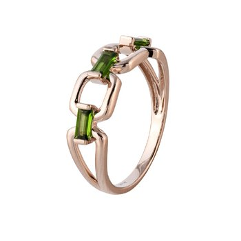Chrome Diopside Ring 14KR