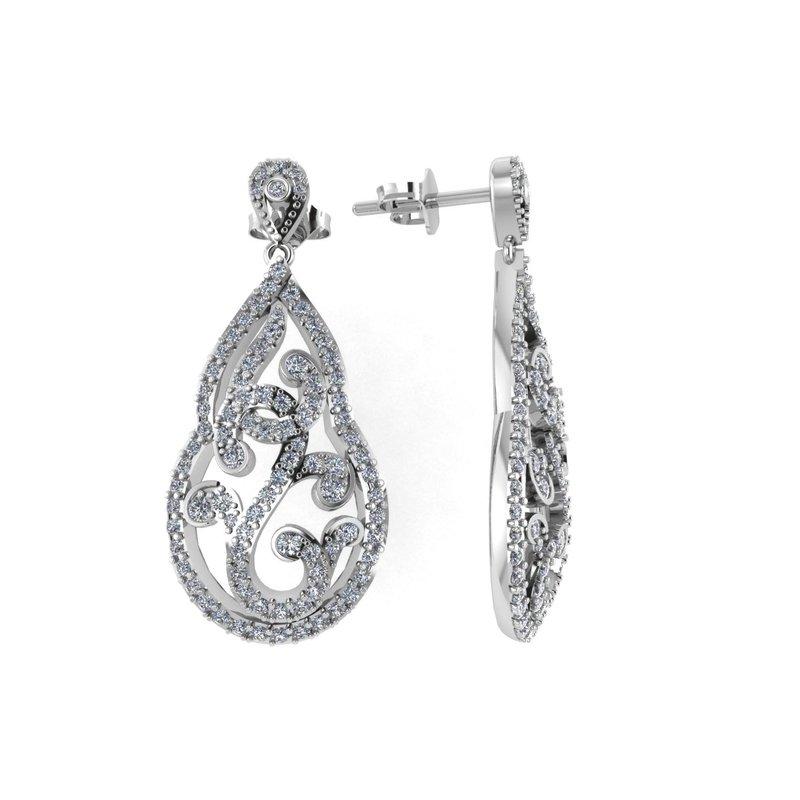 Isadora Open Pear Shape Scroll Earrings