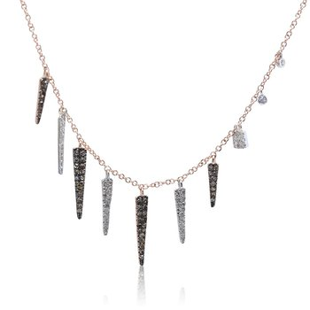 Diamond Spike Necklace 14KR