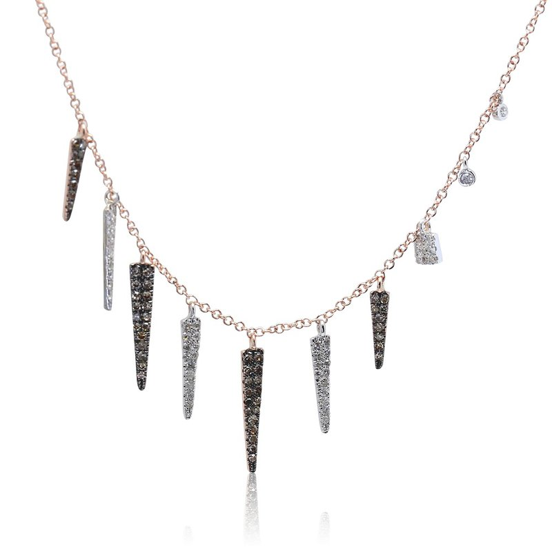 Meira T Diamond Spike Necklace 14KR