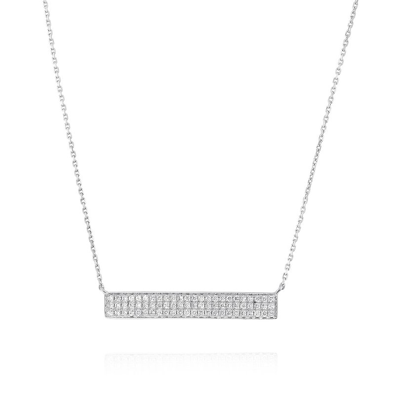 Yael Designs Diamond Bar Necklace 18KW