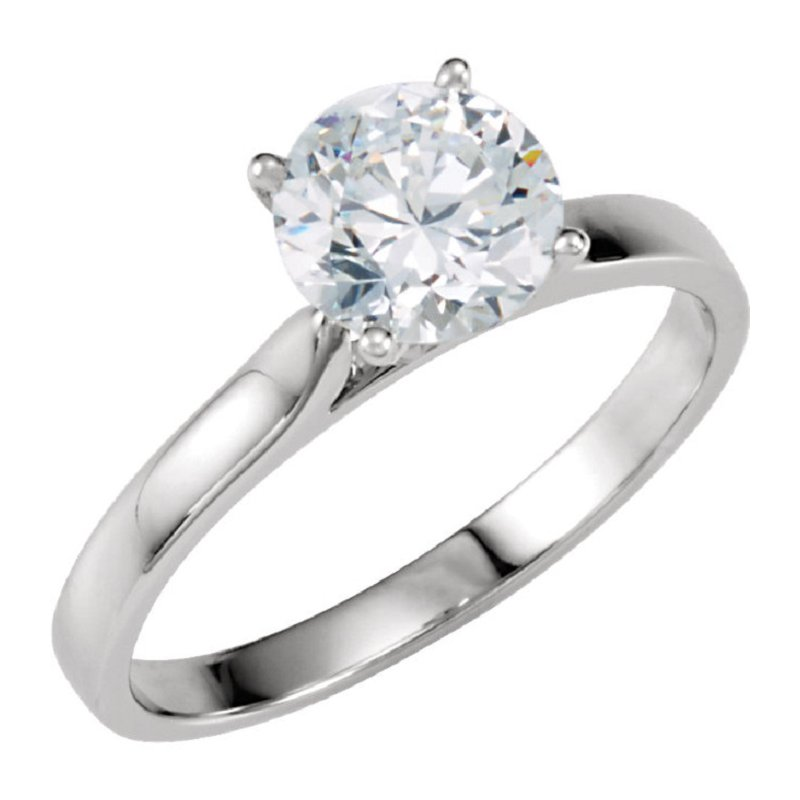 Gallery Designs 14K White 4-Prong Solitaire Setting Only
