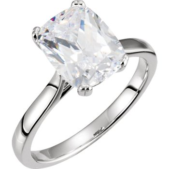 Cushion Shape Solitaire 14KW Setting Only