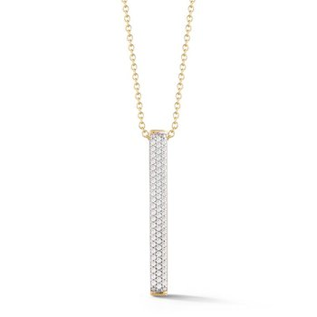14KY Diamond Bar Pendant .55ct