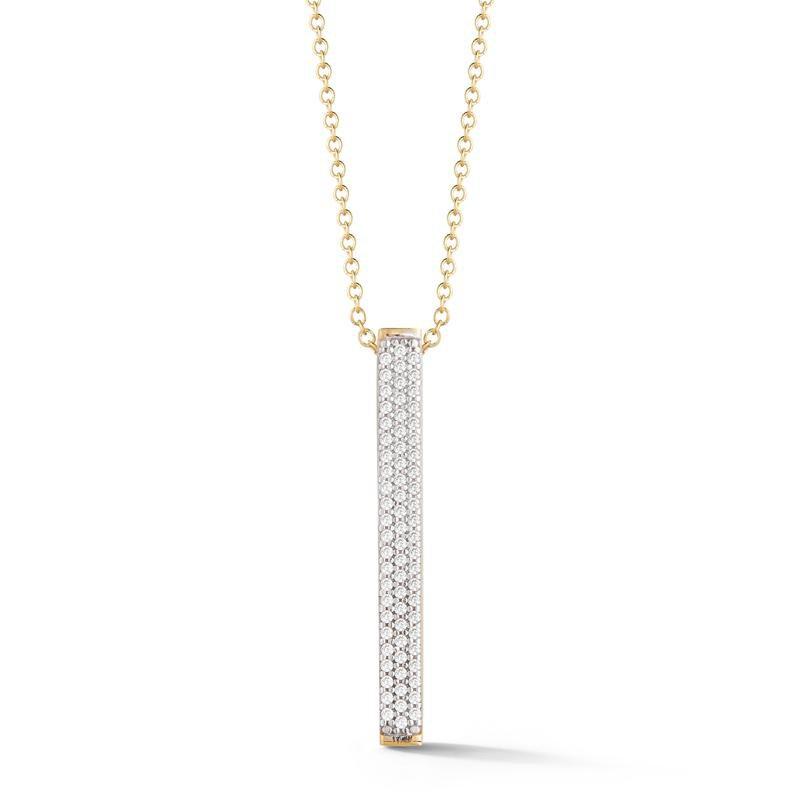 I. Reiss 14KY Diamond Bar Pendant .55ct