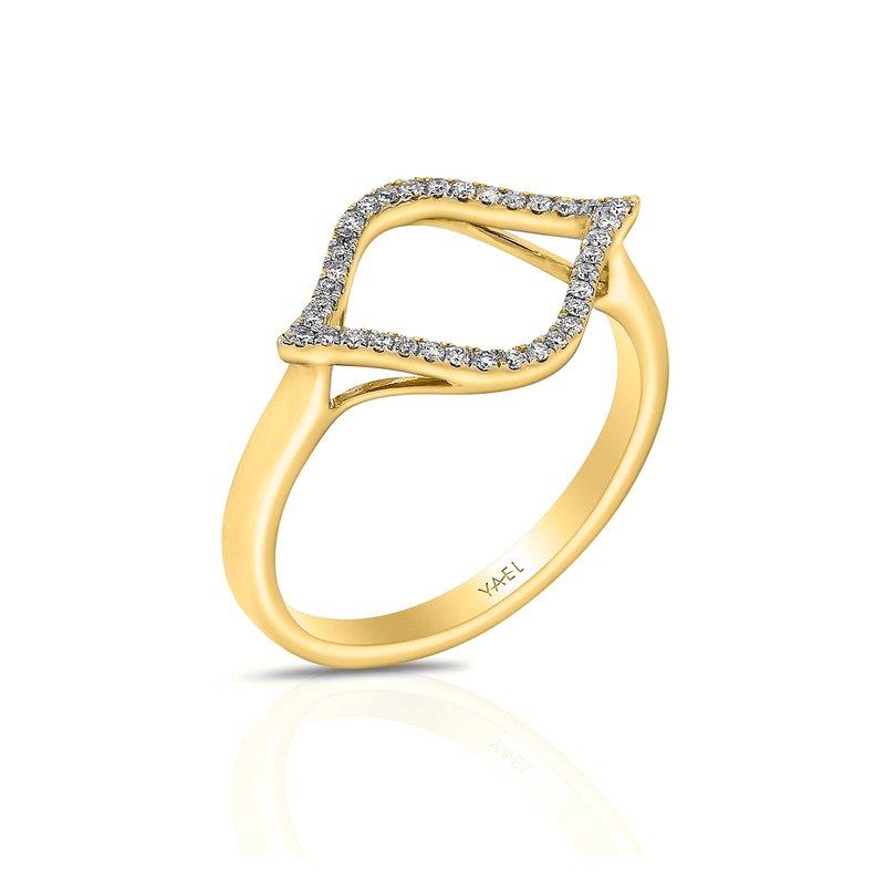 Yael Designs Open Diamond Fashion Ring 18KY
