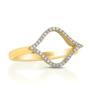 Open Diamond Fashion Ring 18KY