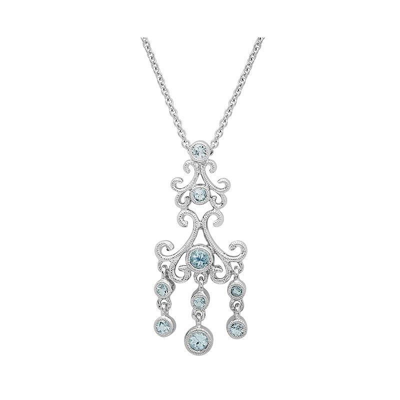 Beverley K Vintage Aquamarine & Diamond Pendant