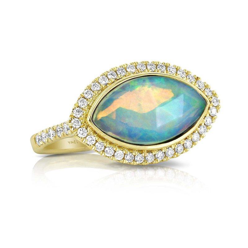 Yael Designs Opal & Diamond Ring 18KY