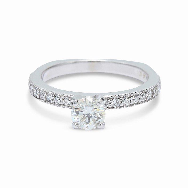 Ascencio Designs Round Diamond Engagement Ring
