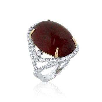 Rubellite Tourmaline Ring