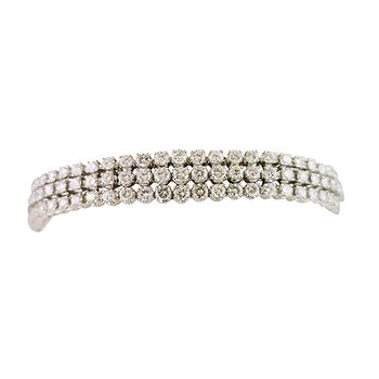 Estate Three Row Diamond Bracelet