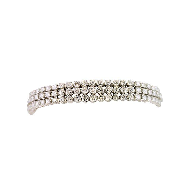 Estate Jewelry Estate Three Row Diamond Bracelet