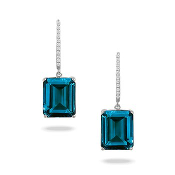 London Blue Topaz Dangles