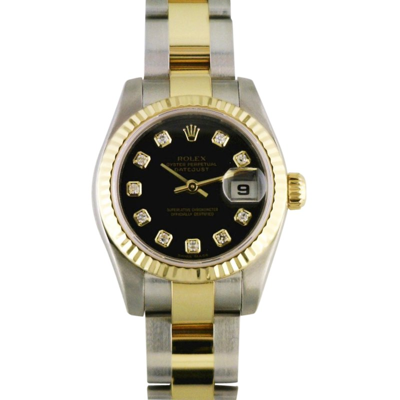 Rolex Pre-Owned Watches Lady Datejust Steel & 18KY 179173